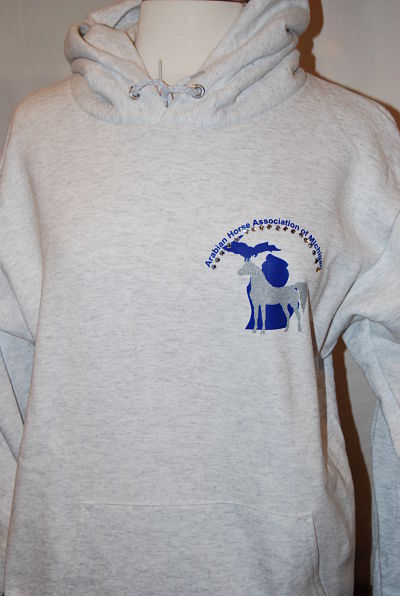 AHAM - Hoodie Pocket Image with Rhinestones