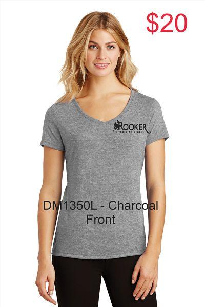 Ladies V Neck Short - Sleeve Tee (DM1350L) - RTS