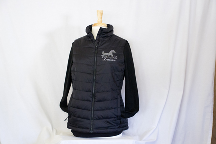 Topline Arabians Puffy Vest - Rhinestones (Port Authority Brand)