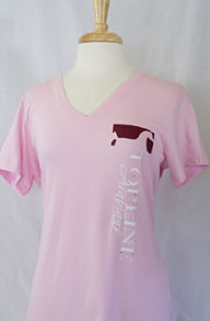 Topline Arabians Ladies SS V-Neck T - Vertical Logo