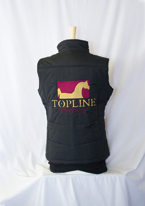 Topline Arabians Puffy Vest - Embroidered (Port Authority Brand)