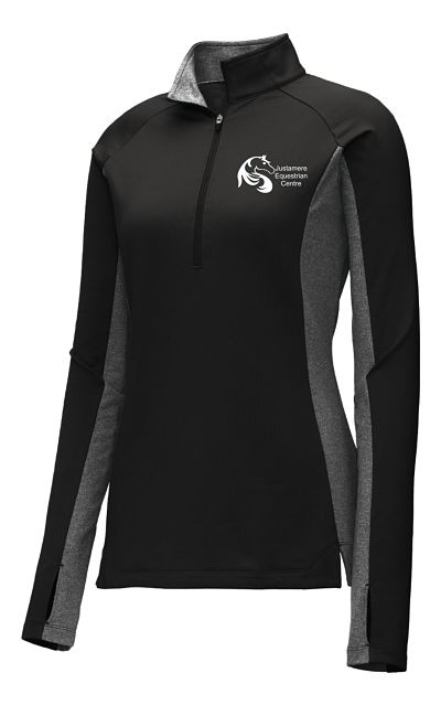 Ladies Fleece Lined 1/4 Zip (ST854) - Justamere