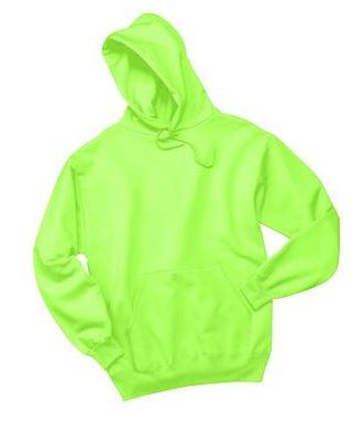 Hoodie - Neon Green Black Print
