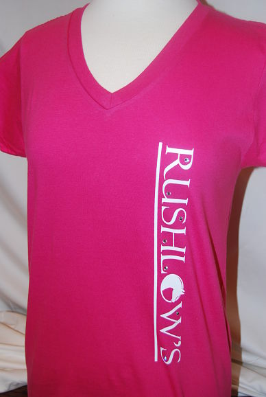Rushlow's Short Sleeve Ladies V Neck Tee