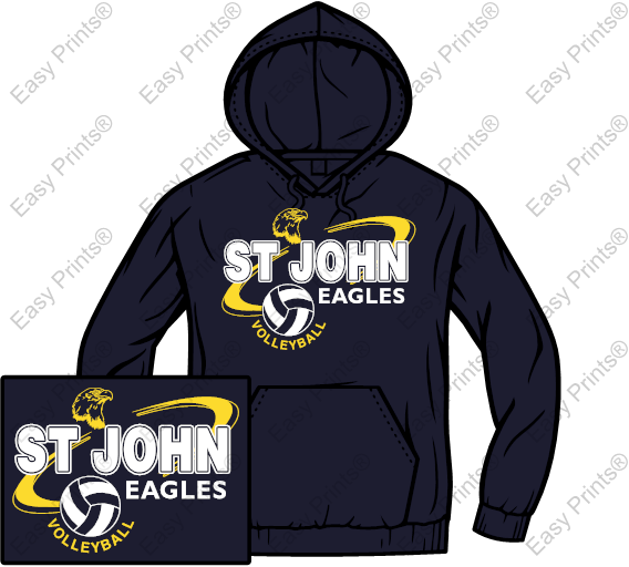St John Volleyball NAVY Hoodie