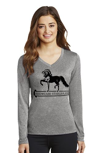 Sport-Tek Ladies Long Sleeve Heathered Contender V-Neck Tee(SCLST360LS)