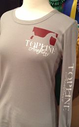 Topline Arabians Ladies LS Thermal Tee - Pocket Logo & Arm