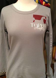 Topline Arabians Ladies LS Thermal Tee - Pocket Logo & Arm