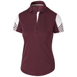 Ladies' Arc Polo - Maroon