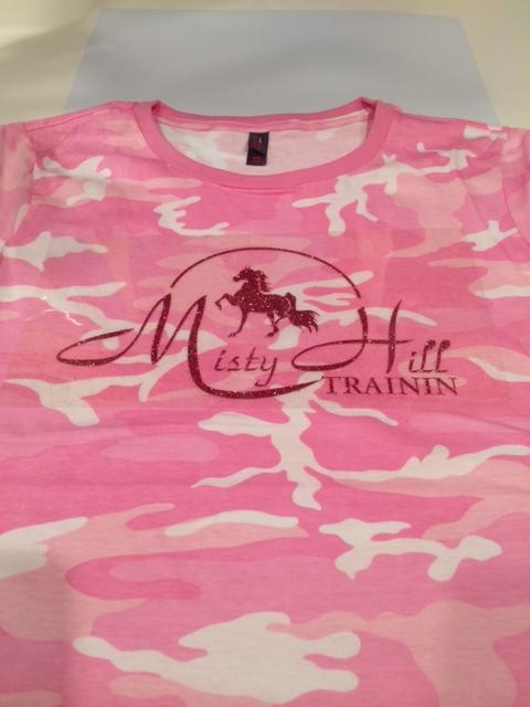Misty Hill Short Sleeve Pink Camo Tee
