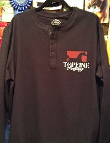 Topline Arabians Men's Navy Henley